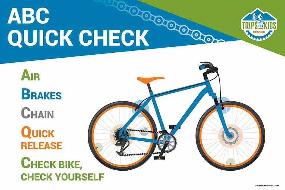 Bike graphic with quick check instructions