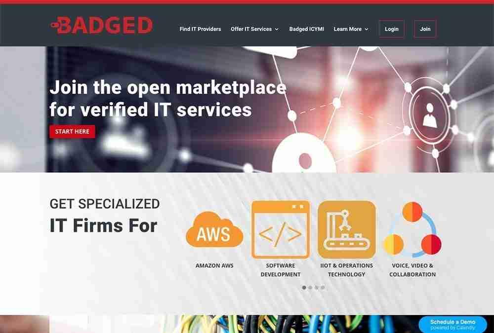 Badged website