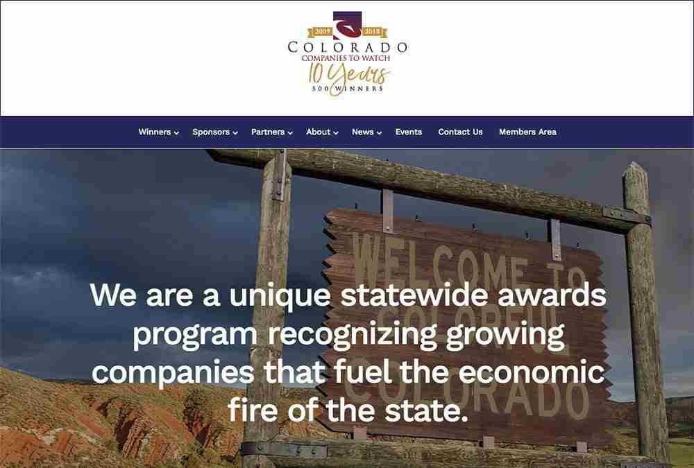 Colorado Companies to Watch website
