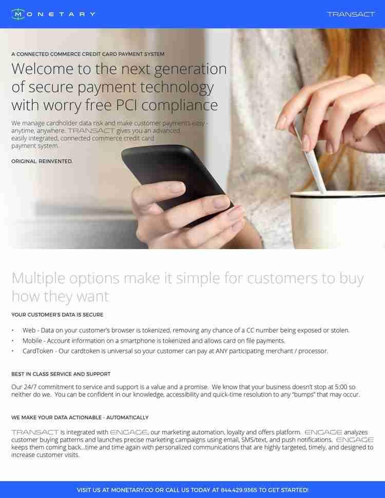 Monetary Transact Sales Sheet - Crazy Good Marketing